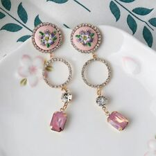 Stud Earrings Unique Vintage Embroidered Floral Earring Set Auger For Women Gift