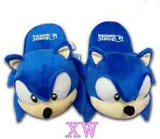 11inch New One Pair The HEDGEHOG Sonic Soft Plush Slipper Free shipping