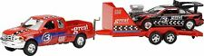 Trailer Series Die cast Truck & Trailer with Black/Red Hotrod Car Kids Children