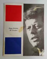Rare Happy BIrthday Mr. President  Program- John F Kennedy - Marilyn Monroe