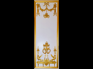 DECORATIVE ANTIQUE LOUIS XVI MARIE ANTOINETTE GILT  WHITE WALL PANELLING PANEL