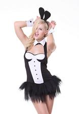 5 Piece Playboy Bunny/Bridget Jones Costume Dress Ears Cuffs Collar Size 10