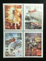 Canada #1330-1333a MNH, Dangerous Occupations Block of Stamps 1991