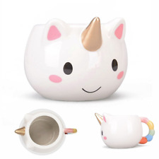 Tazza a forma di unicorno divertente per colazione o porta penne
