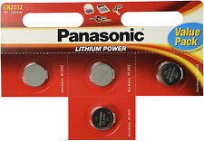 4 x Panasonic cr2025 Batteria A Bottone Al Litio 3v 2025