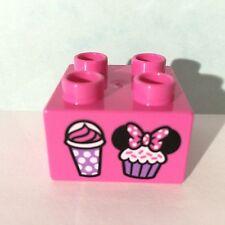 LEGO DUPLO 10830 Motivstein Muffins rosa 2x2 Noppen NEU