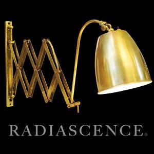 MINIMALIST MODERN BRASS EXTENDING SCISSOR WALL LAMP 1950's ITALY GINO Sarfatti