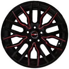 4 GWG Wheels FLARE 18x8 inch Black Red Rims fits MAZDA CX-9 2007 - 2018