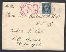 Bayern Bavaria 1915 cover to USA with AUSLANDSTELLE COLN – DEUTZ