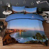 Beautiful Lake 3D Quilt Duvet Doona Cover Set Single Double Queen King Print