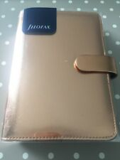 Filofax Saffiano Personal Organiser Rose Gold Special Edition PU Leather Look