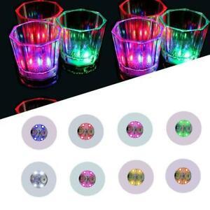 LED Coaster Mat Sticker Drinks Party Light Up Bottle Party S Glass U Wine H1F8