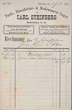 EINBECK, Rechnung 1884, Manufaktur- und Modewaren Carl Steinberg