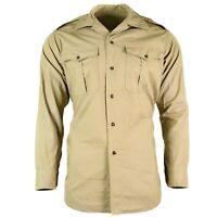 Genuine French army shirt M47 fatigue dead stock chino khaki military jacket NEW