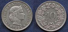MONETA COIN MONNAIE HELVETIA SUISSE SWITZERLAND SVIZZERA - 10 RAPPEN 1932 -
