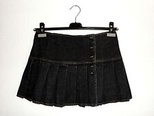 DENNY ROSE MADE IN ITALY MINIGONNA JEANS SKIRT DENIM STONE WASHED TG S ( 10 UK )