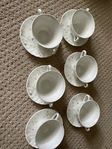 Six X Campion Wedgewood Soup Bowls With Plates
