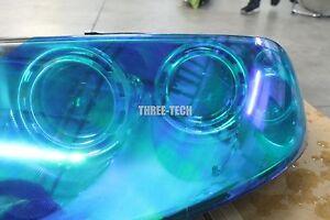 """12""""x48"""" Neo Blue Chameleon Wrap Tint Vinyl Film for Custom Headlight Color Film"""