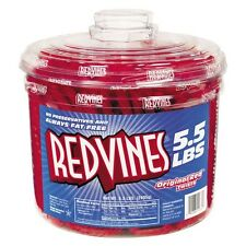 Red Vines Original Red Licorice Candy 5.5lbs Tub Super Fresh 330 Pieces