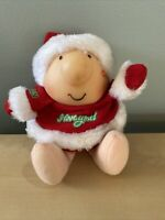 Ziggy 1987 Santa Stuffed Doll Plush Santa Suit I Love You Christmas- 6""