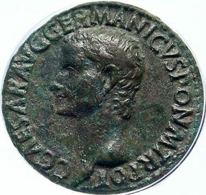 CALIGULA Ancient Original 37AD Rome Authentic Roman Coin ANACS Certified i83846