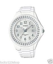 LX-500H-7B2 White Casio Ladies Watches Resin Band 50M Analog Date Brand-New