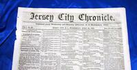 Amazing ANTIQUE NEWSPAPER Jersey City Chronicle April 22 1863 DURING CIVIL WAR