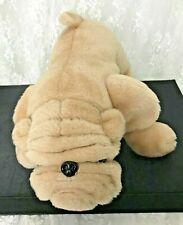 "Vintage The Rushton Company Plush Pug Dog Champion Bulldog 14"" Long Hard Nose"