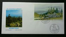 Germany National Park 2002 Mountain River Forest Tree (miniature FDC)