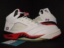 2006 Nike Air Jordan V 5 Retro WHITE FIRE RED BLACK WOLF GREY 136027-162 NEW 11