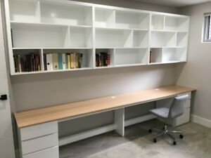 """Eliza 2.0"" Tasmania Oak Computer Desk Filing Drawer Bookshelf Wall Unit"