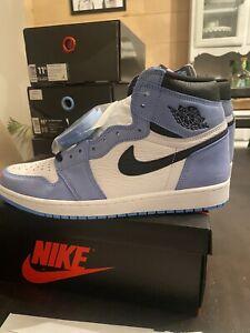 Nike Air Jordan 1 Retro High White University Blue Men's Size 11