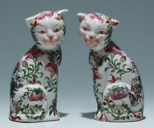 Pair of Chinese Familie Rose Imari Cats-Early-Mid of 20th C.