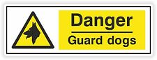 1x Danger Guard Dogs Warning Sticker for Home Box Door Work Store Business #01
