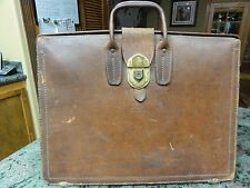 """VINTAGE RARE ACE LEATHER GOODS CALIFORNIA HARNESS MESSENGER BRIEFCASE """"G.D.H."""""""