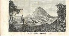 Stampa antica GALAPAGOS Isola Charles Ecuador 1889 Antique Print Grabado antiguo