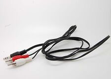 3.5mm To 2 RCA Audio Y Adapter Cable/Cord/Lead For Sirius XM Radio Sportster 6 7