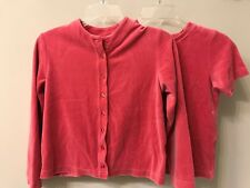 HANNA ANDERSSON Girls 140 (10) Pink Velour Button up Cardigan Sweater Jacket Top