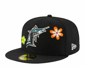New Era 59Fifty MLB Florida Marlins C/S Floral Fitted Pink Bottom 60180919