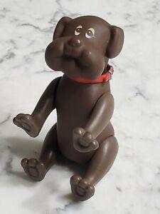 Vintage 1986 Tonka Pound Puppies Poseable Figure Brown Dog