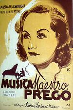 SPARTITO MUSICA MAESTRO PREGO ANNO 1940- XVIII° ERA FASCISTA MANDOLINO-CANTO
