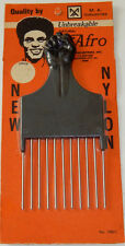 Vintage Nylon/Steel Clenched Raised Fist Black Afro Pick Comb Made In The USA