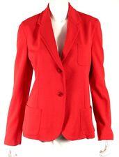 ARMANI COLLEZIONI Lipstick Red Stretch Button-Front Blazer Jacket 12