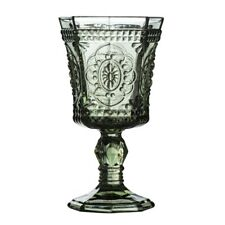 Amazing New Style Retro Set of 2 Baroque Wine Goblet Smoked Glass Drink Glass