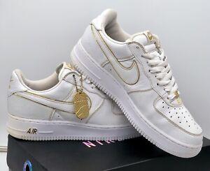 "Very Rare 2005 Nike Air Force 1 Low "" Metallic Gold "" Size UK 9 Jordan / Dunk"