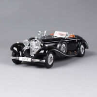 Maisto 1:18  Diecast Mercedes Benz Model 500 K Type Specialroadst Black Car Toy