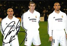 ROBERTO CARLOS - Hand Signed 12x8 Photo - Real Madrid Brazil Football