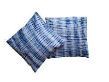 Tie Dye Handmade 2 Pack 18x18 Inch (45cmx45cm) Cushion Covers. Blue