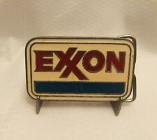 Vintage Exxon belt buckle. Worn proudly and ready to go to a new home.