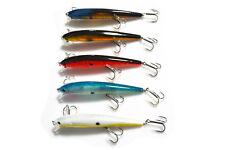 5PCS Sea Fishing Fish Lure Floating Minnow Lures hook Crankbaits 12cm/19.4g
